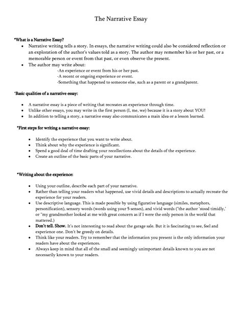 Definition Of Narrative Essay by Definition Of Narrative Essay