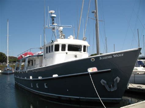 diesel catamaran fishing boats for sale 1991 offshore steel boat company 61 trawler power boat