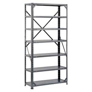 industrial steel shelving shop edsal 60 in h x 30 in w x 12 in d 7 tier steel