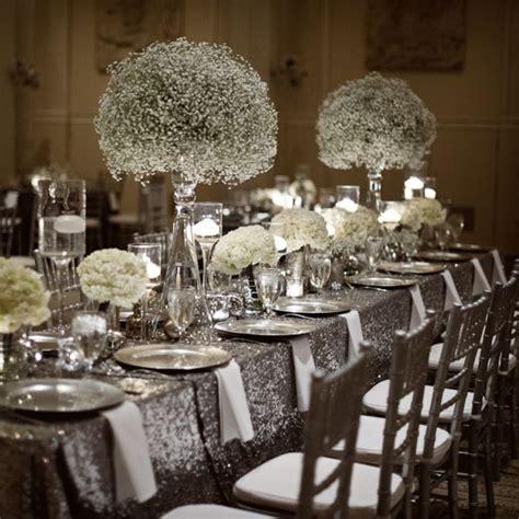 And Silver Wedding Flower Ideas stunning wedding flower ideas babies breath babies and