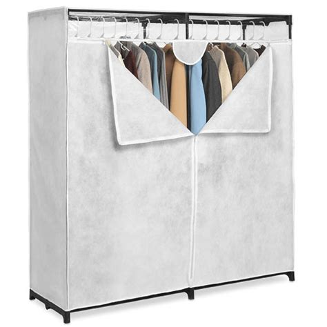 Clothes Closet by Whitmor White 60 Inch Wide Clothes Closet Walmart