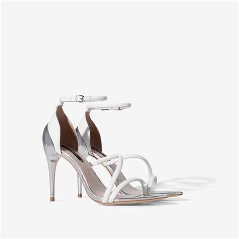 zara high heels sandals zara high heel strappy sandals in white lyst