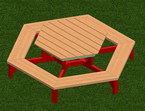 build a picnic bench how to build a hexagon picnic table with pictures wikihow
