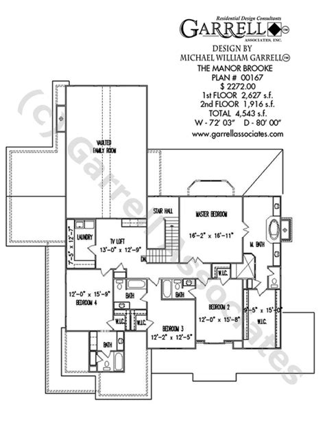 manor floor plans manor house plan house plans by garrell
