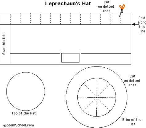 tiny leprechaun hat template enchantedlearning com