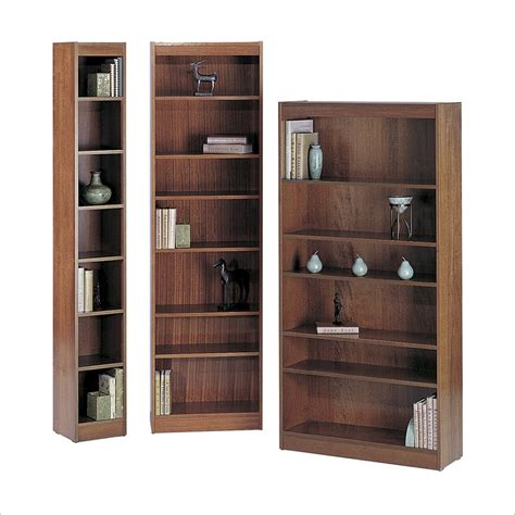 12 inch wide 6 shelf veneer baby bookcase in mahogany