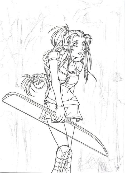 elf archer coloring pages pin elf archer coloring page on pinterest