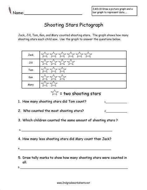 printable pictograph worksheets for kindergarten