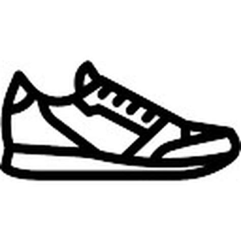 Flat Shoes 338 125 1 sportive shoe outline from side view icons free