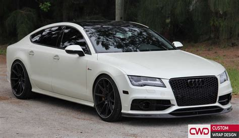 Audi A7 Wei by Audi A7 Satin Pearl White Wrap