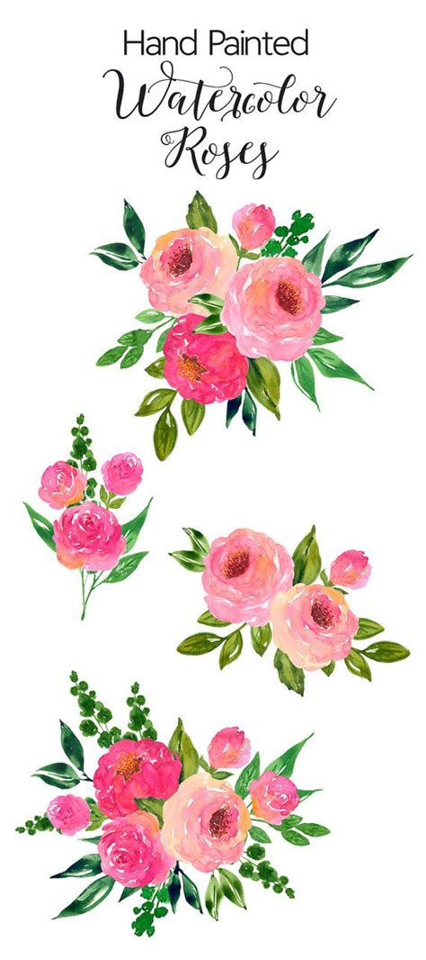 watercolor clipart watercolour flower clip painted by artdownload on