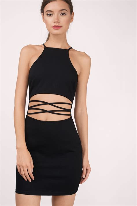 Dress Midi Gaun Bodycon Import Cut Size S 213969 in the cut out bodycon dress when