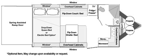 5th Wheel Toy Haulers Floor Plans by Toy Hauler Floorplans Custom And Standard Models From