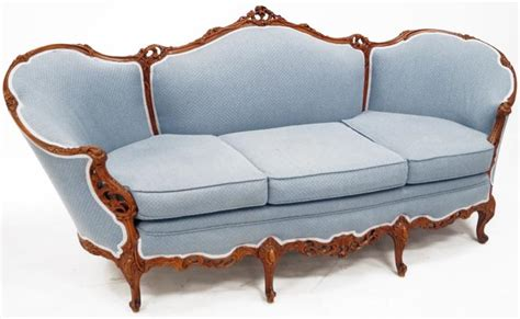 parlor sofa french style carved walnut parlor sofa length 88 quot