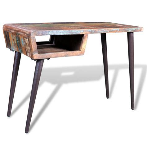 gambe scrivania scrivania in legno di recupero con gambe in ferro vidaxl it