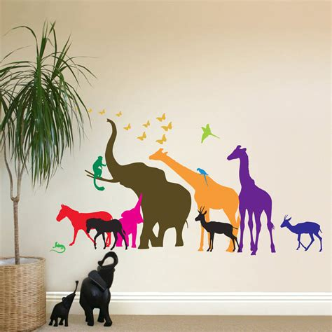 animal wall stickers thirteen safari animal wall stickers new sizes by the