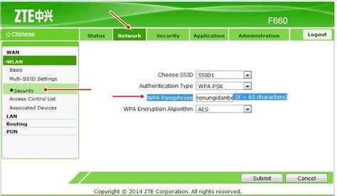 Wifi Zte F660 4 cara mengganti password wifi indihome ngelag