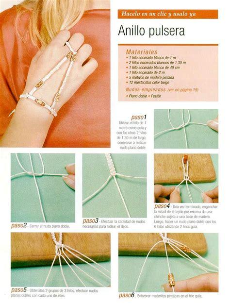 pulseras de nudos planos macram 233 arte de hacer nudos pulsera de hilo nudo