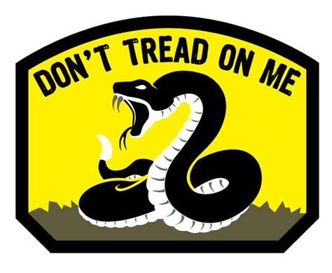 on me don t tread on me vinyl decal color
