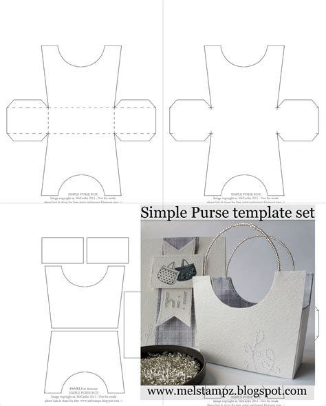 handbag templates mel stz new simple purse box templates