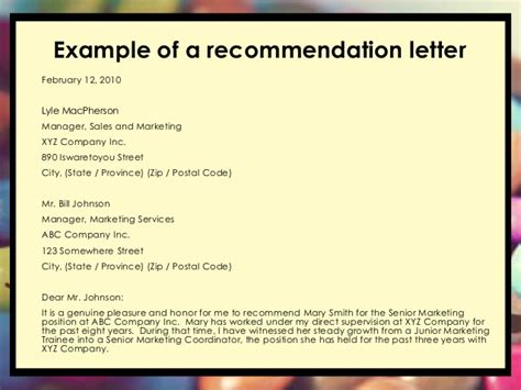 sle of letter of recommendation for sales letter of recommendation help affordable price