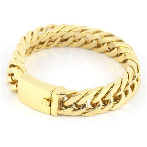 2016 new 22mm mens chain boys bracelet gold mens bracelets