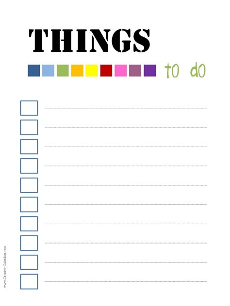 to do template free printable 5 best images of hello printable checklist to do