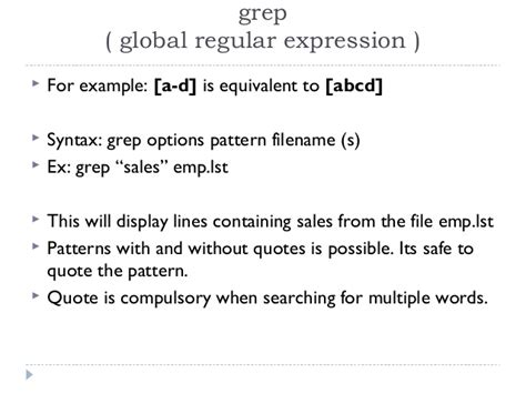 Grep Pattern With Quotes | spsl ii unit