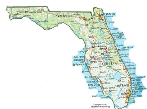 printable florida road map 6 best images of florida state map printable printable