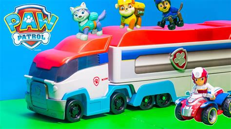 speelgoed paw patrol unboxing the paw patroller semi truck with rubble and