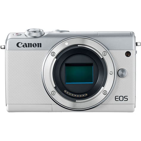 Canon Eos M100 Kit 15 45mm Is Stm Putih White canon eos m100 kit ef m 15 45mm f 3 5 6 3 is stm sliver