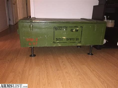 Crate Coffee Table For Sale Armslist For Sale Ak 47 Shipping Crate Coffee Table