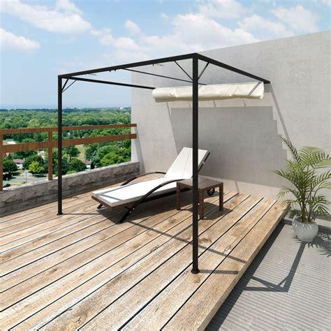 shade gazebo vidaxl garden patio awning sun shade canopy wall gazebo