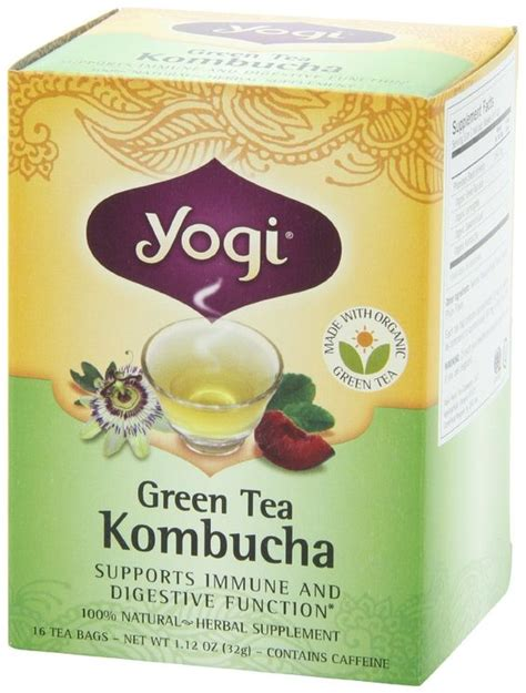 Yogi Detox Tea Benefits by Yogi Green Tea Kombucha Herbal Tea Supplement Beverage