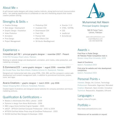 1 Page Resume Template by Best One Page Resume Format Resume Ideas