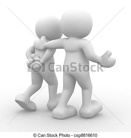 can stock photo clipart stock illustration of friends 3d human