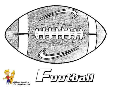 Nike Football Coloring Page | gutsy american football coloring pages quarterbacks