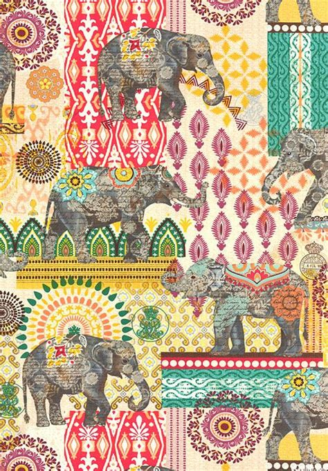 fabric elephant pattern free suzani elephant caravan quilt fabrics from www equilter