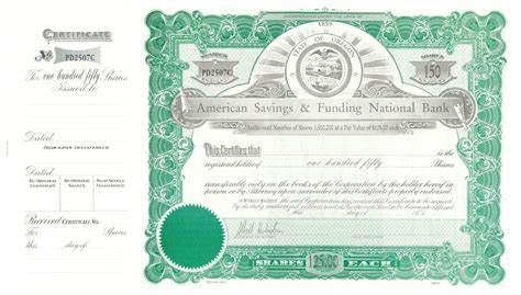 abnc specimen stock certificate sample