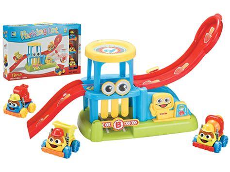 china car railway car parking lot toys truck
