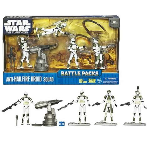 Cheap Cutlery Sets star wars clone wars anti hailfire droid squad battle pack