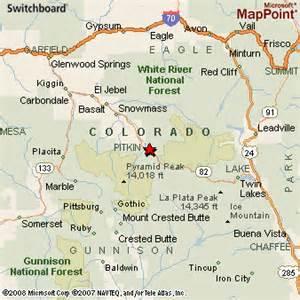 where is aspen colorado on the map aspen colorado