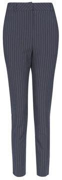 Beckham Nauren 3266 in blue pinstripe suit popsugar fashion