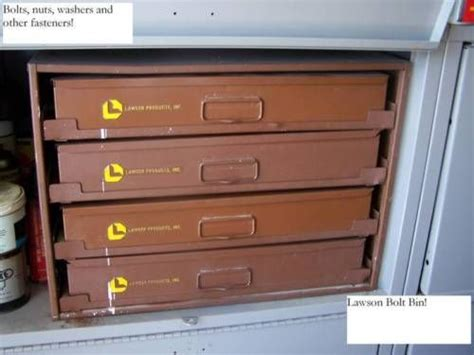 Lawson Bolt Bin. This Set has 4 Slide out Drawers with