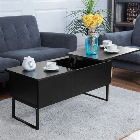 Storage Table For Living Room - wood rectangular lift top storage coffee table shelf