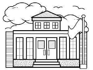 Small School Coloring Page Coloring Page Of A School