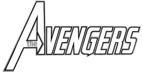 avengers logo coloring page free coloring pages of avengers logo