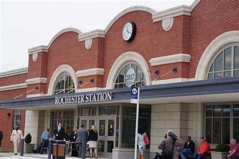 rochester train station opens doors rochester business