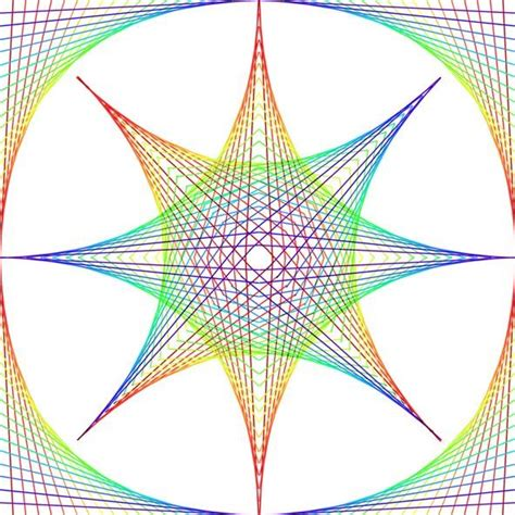 maths pattern drawing how to create parabolic curves using straight lines 171 math
