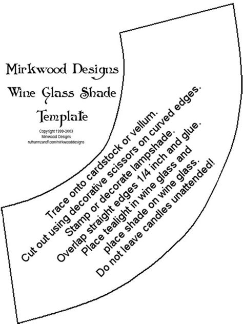 wine glass place cards template wine glass shade template print on card stock and cut